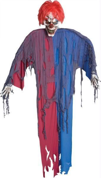 startling and scary hanging clown 6 ft halloween prop yard decoration - Scary Clown Halloween Decorations