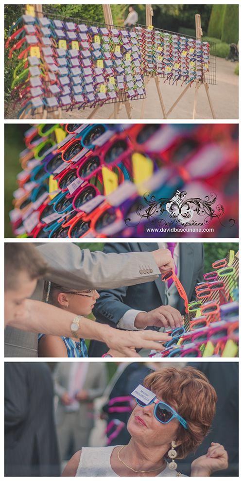 le plan de table lunette de soleil colorée  so hipster!   cadeaux d ... 8946d1fd9df2