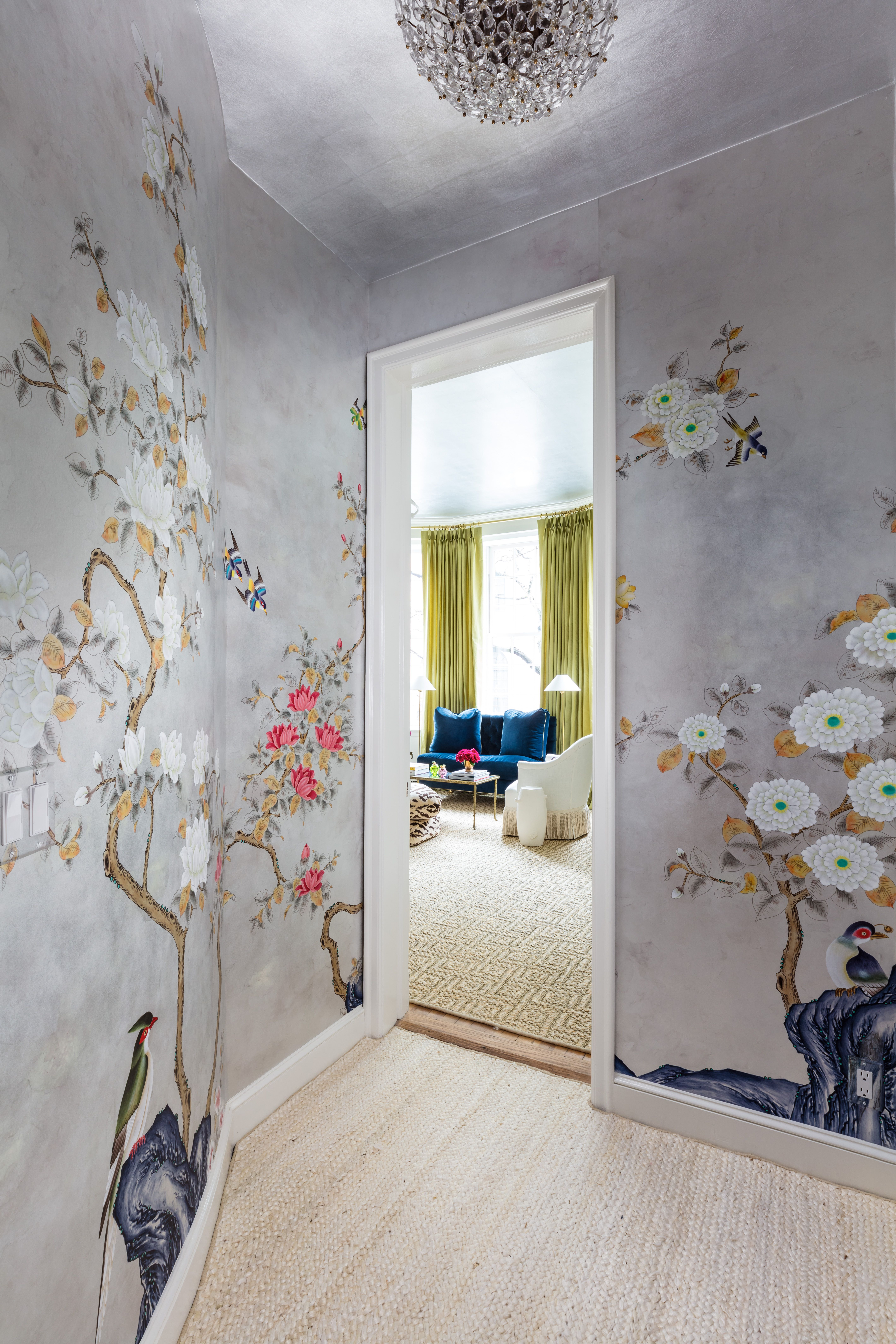 Reflections For The New Year Show Home De Gournay Wallpaper Interior