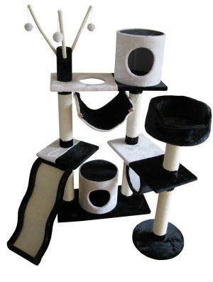 toller kratzbaum barcelona mit vielen extras wie schlafh hle h ngematte aussichtspunkt und. Black Bedroom Furniture Sets. Home Design Ideas