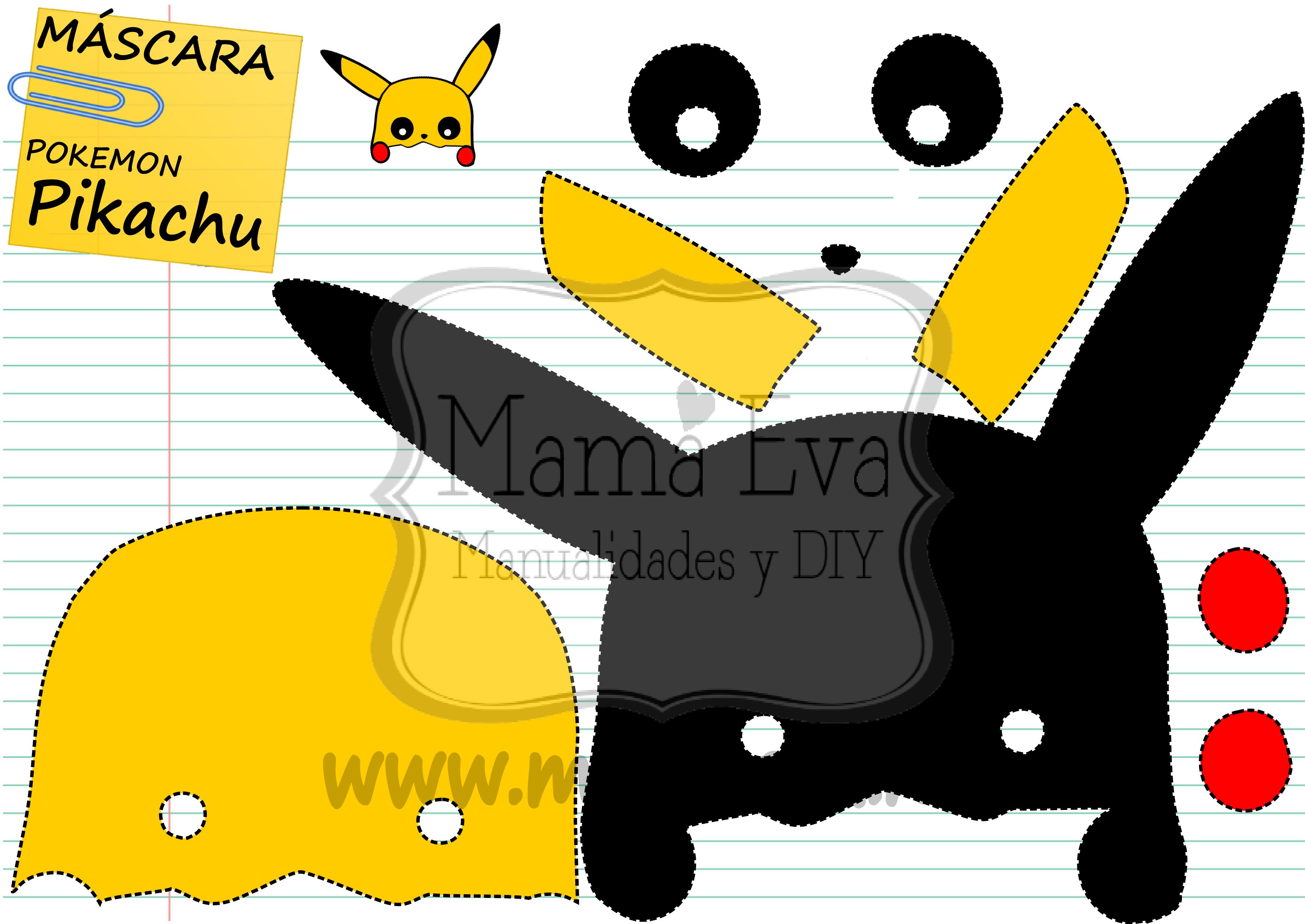 La máscara más sencilla del mundo! Pikachu pikapiiiii! Muchas más en ...