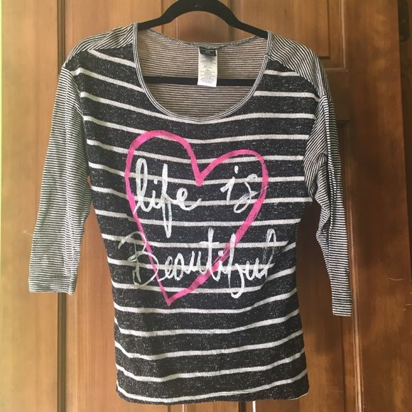 Life is Beautiful Shirt  Worn less than five times! Tops