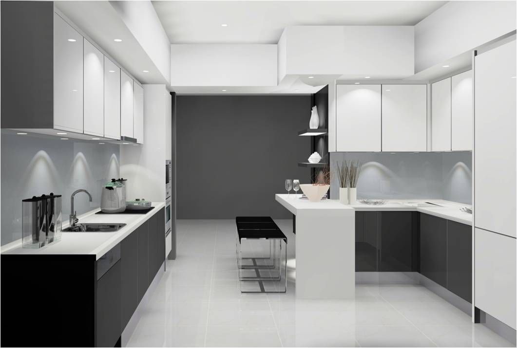 malaysia kitchen design. simple yet contemporary stylekitchen