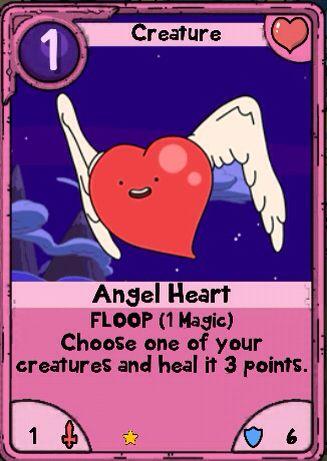Adventure Time Card Wars - Angel Heart - Nice Lands Card card - time card