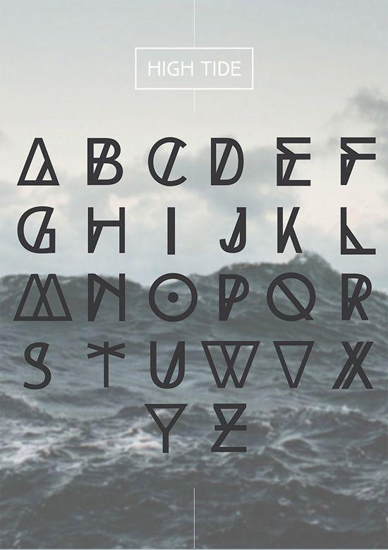 Des polices originales et rafra chissantes typographie - Lettres alphabet originales ...