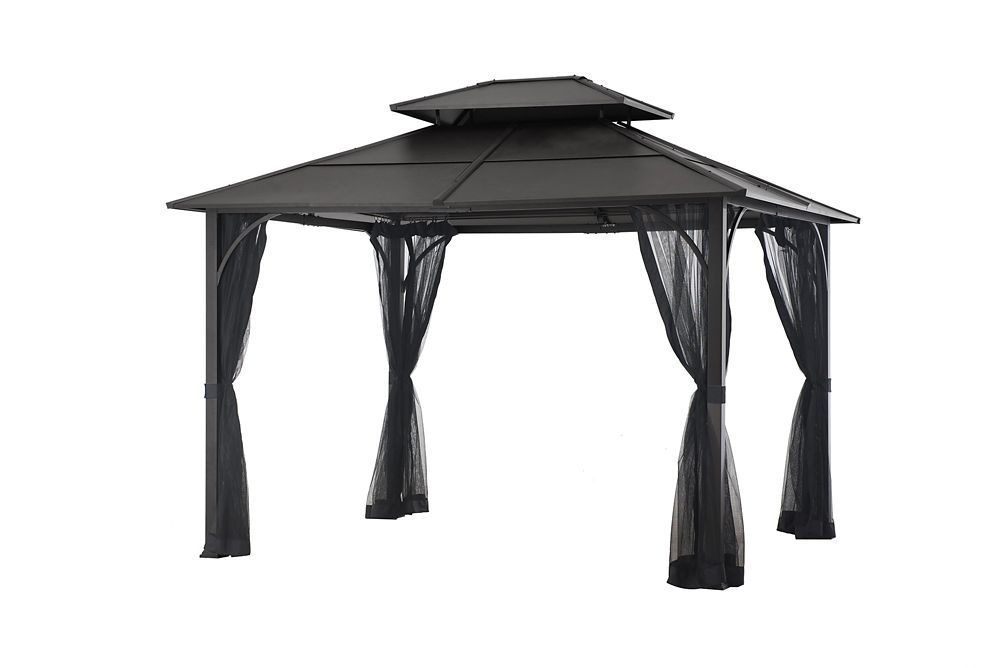 Improve Your Outdoor Living Space With The 4 Season It Provides A Shaded Space To Relax By The Pool During Hot Summer Days A Gazebo Hot Tub Gazebo Large Gazebo