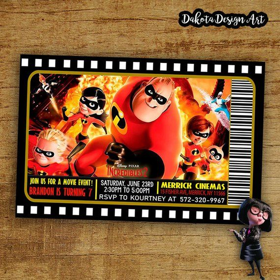 Item Description: The Incredibles Birthday Invitation By ...