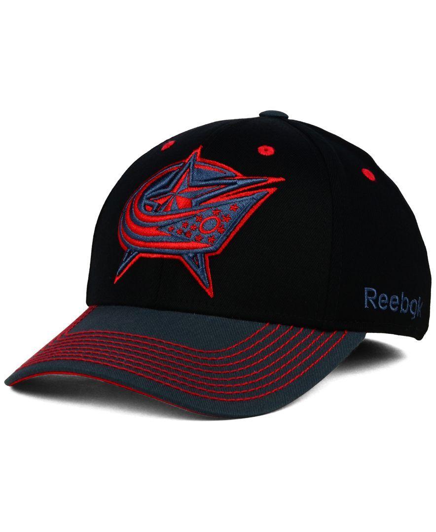 Reebok Columbus Blue Jackets Tonal Logo Flex Cap