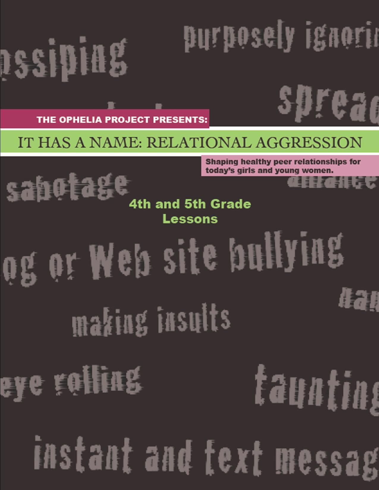 Relational Aggression K 12 Lesson Plans