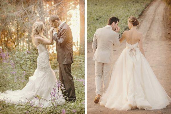 Diez ideas de fotos de boda rom nticas la fotograf a de - Bodas sencillas y romanticas ...