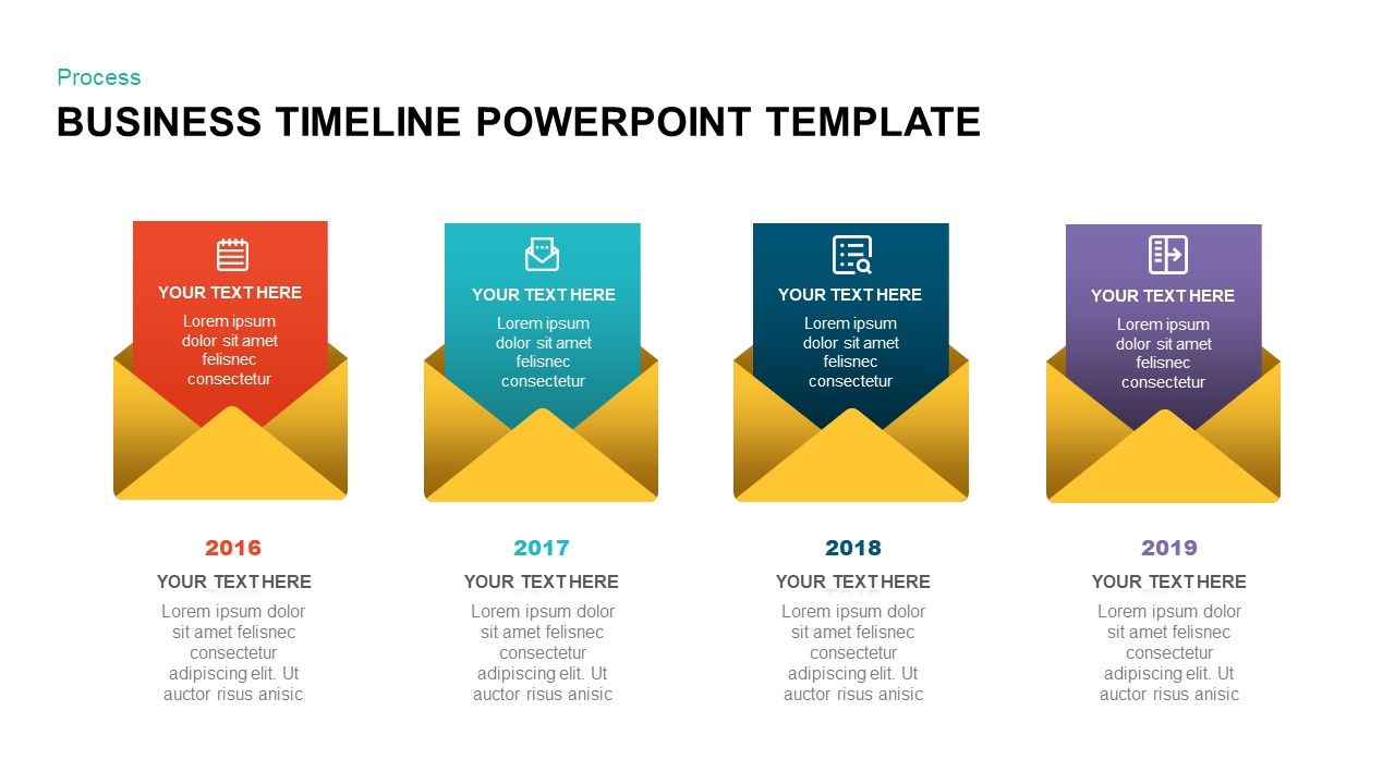 Business Timeline Template For Powerpoint Keynote With Images