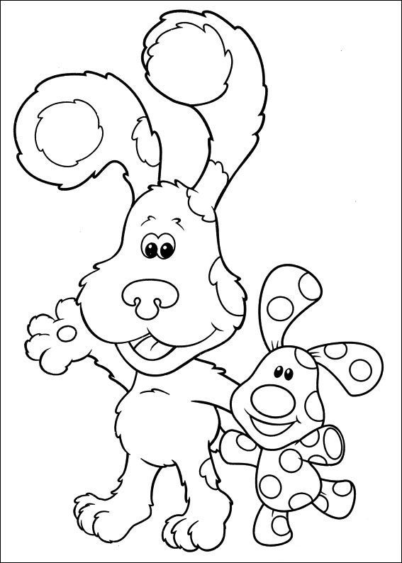 Blues Clues Preparing To Paint | Blue\'s clues Coloring Pages ...