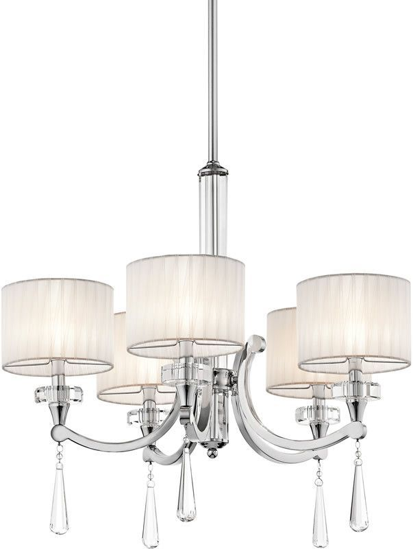 0 03096426w parker point 5 light chandelier chrome chandeliers and lights