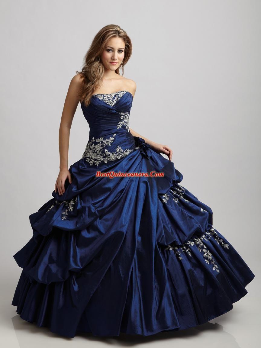 Beautiful Midnight Blue Gown So Regal Ball Dresses