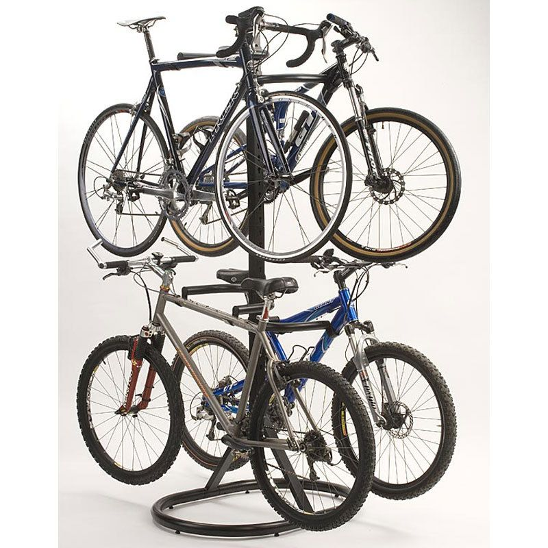 Floor /& Wall Mounted Bike Stand Bicycles Cycle Steel Outdoor Safety Storage Rack