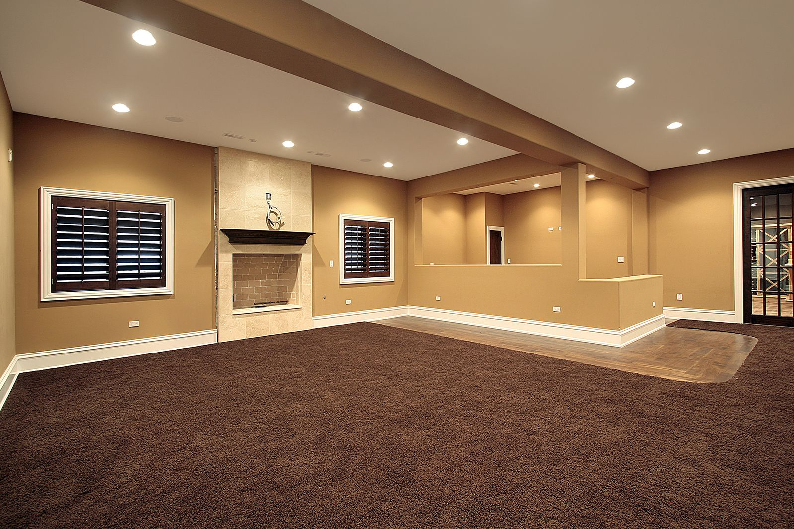 Basement Remodeling Baltimore Model Interior not sure what to do with your 'blank canvas' basement? #basement