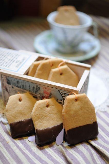 Peanut Butter Shortbread Teabag Cookies