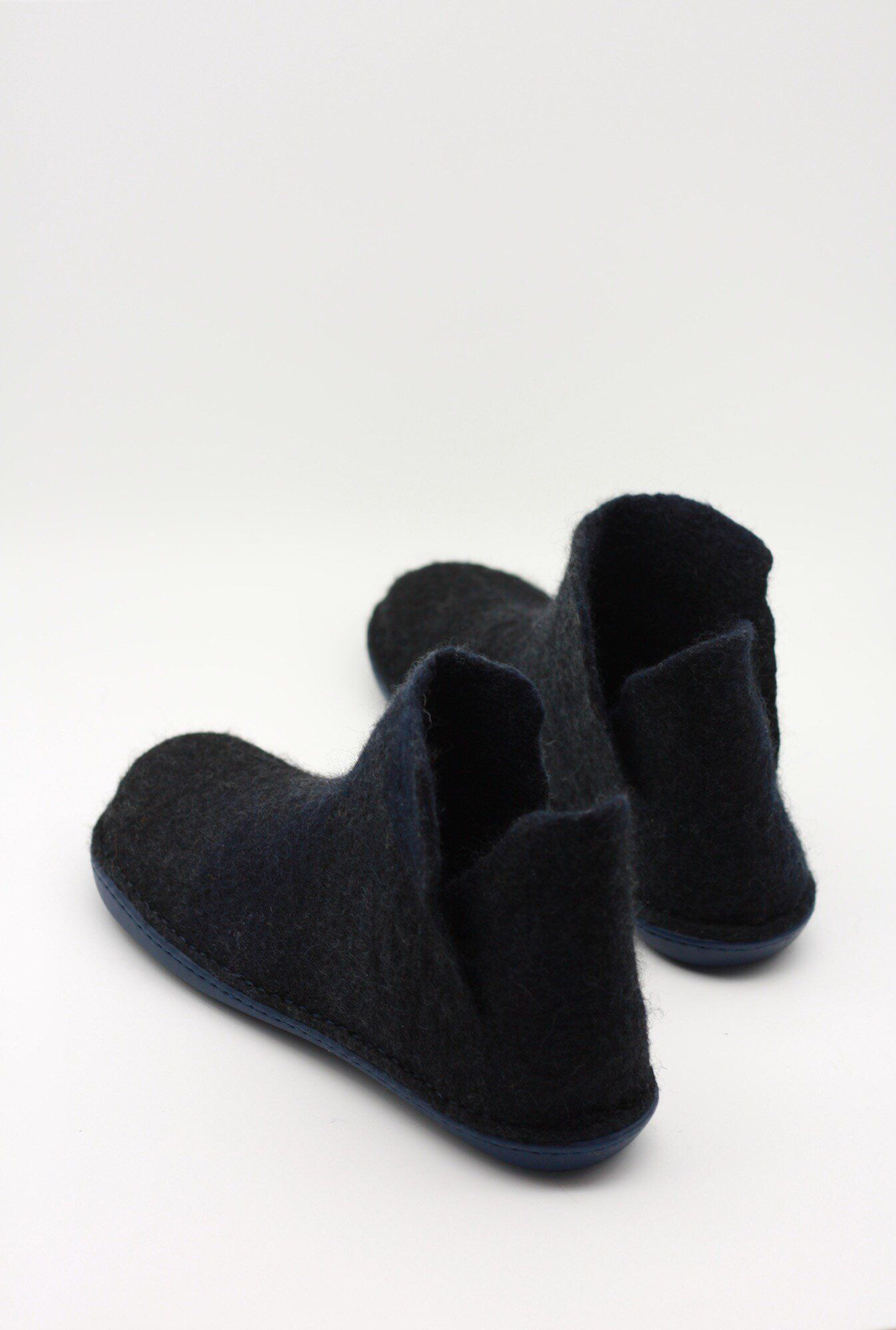 e91ae92f7bf77 LUCIELALUNE black ankle boots for men handmade felted merino wool ...