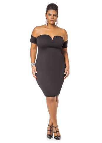 1fa27b973872 Sweetheart Neck Off the Shoulder Midi Dress