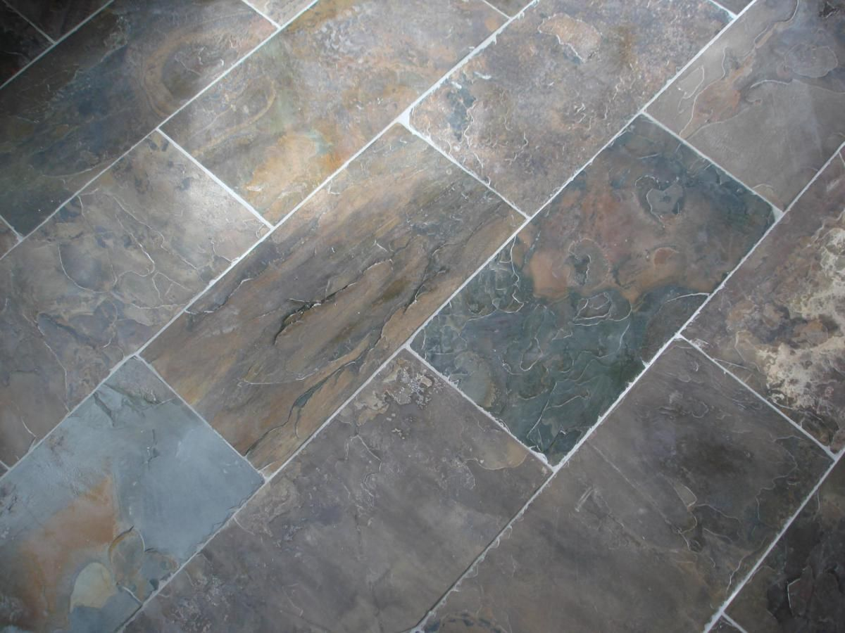 Slate Tile Floor Display Slate Tile Floor Grey Slate Floor