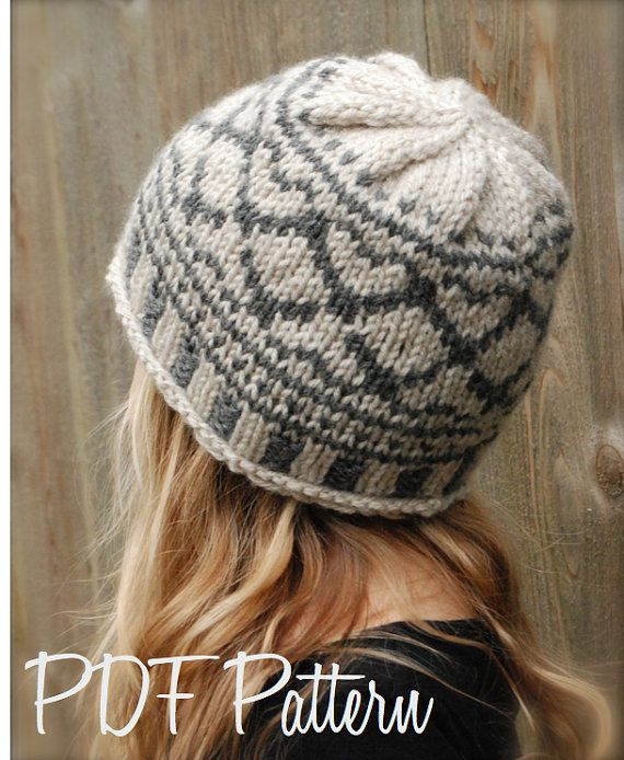 Knitting PATTERN-The Valyn Hat (Toddler, Child, Adult sizes) | Modas ...
