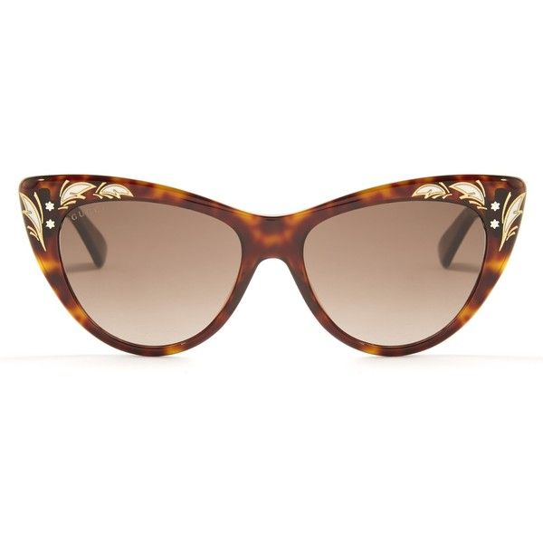 58a57d8367 Gucci Cat-eye sunglasses ( 318) ❤ liked on Polyvore featuring accessories