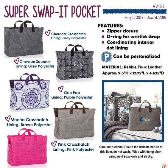 Super Swap-It Pocket, Thirty-One Fall 2017 | Obsession with Bags ...