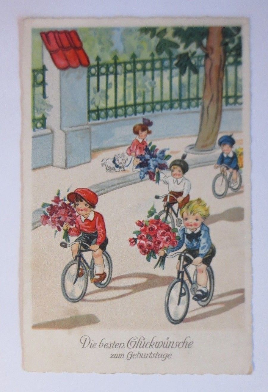 Geburtstag Kinder Fahrrad Blumen 1933 52831 Eur 8 00