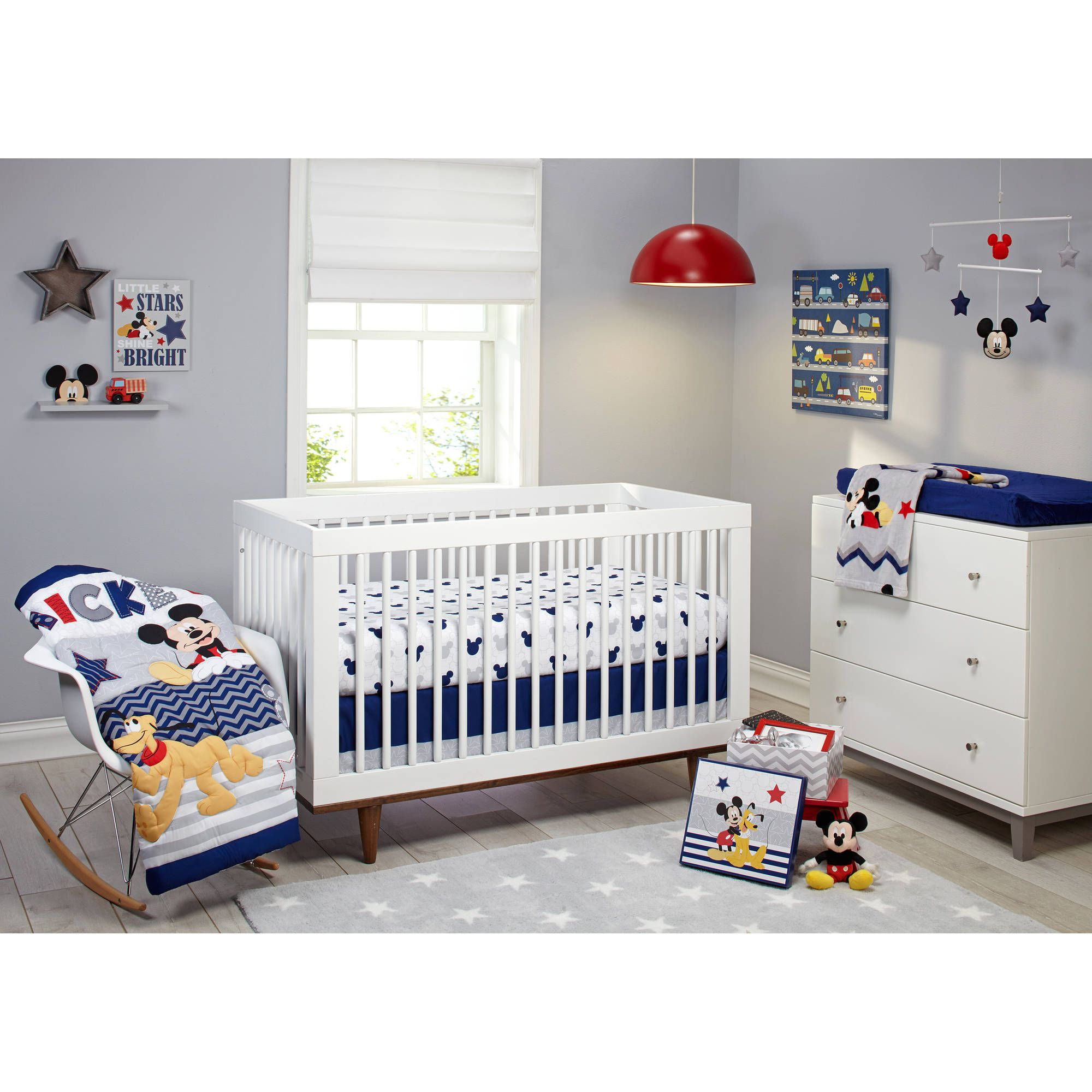Beau Disney Letu0027s Go Mickey II 4 Piece Crib Bedding Set   Walmart.com Got This  For The Babyu0027s Nursery. So Ive Been Mixing And Matching With The Best  Buddies Crib ...