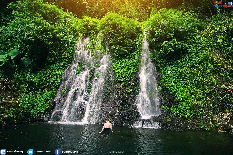 Air Terjun Jagir Ini Memiliki Keunikan Dimana Dalam Satu Lokasi Terdapat Tiga Air Terjun Masyarakat Sering Menyebut Air Terjun T Taman Nasional Air Terjun Air