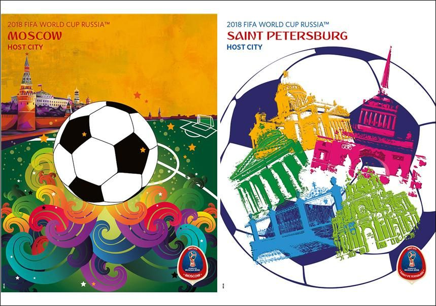 Fifa World Cup 2018 Russia Official Host City 2 Poster Set Moscow And St Petersburg Sports Endeavors Sports Poster Warehou Fifa World Cup World Cup Fifa