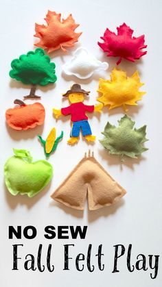 I LOVE fall and this no sew fall felt play set is PERFECT for preschool and toddler play! Spark their imagination and enjoy the festive colors while you play! SO creative!
