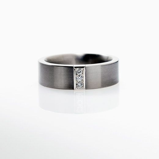 Stainless Steel Brushed and Polished Diamond-cut 6.50mm Band
