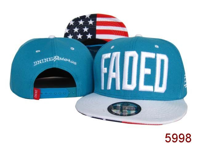788058ea3a4 New D9 Reserve DNINE RESERVE Faded Snapback Hats Blue white 030
