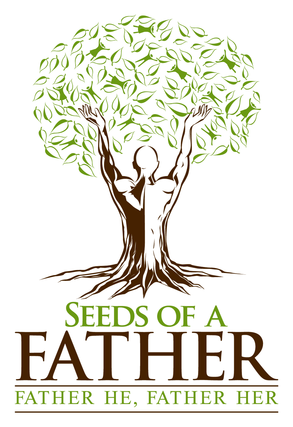 Powerful church logo representing a growing tree with a