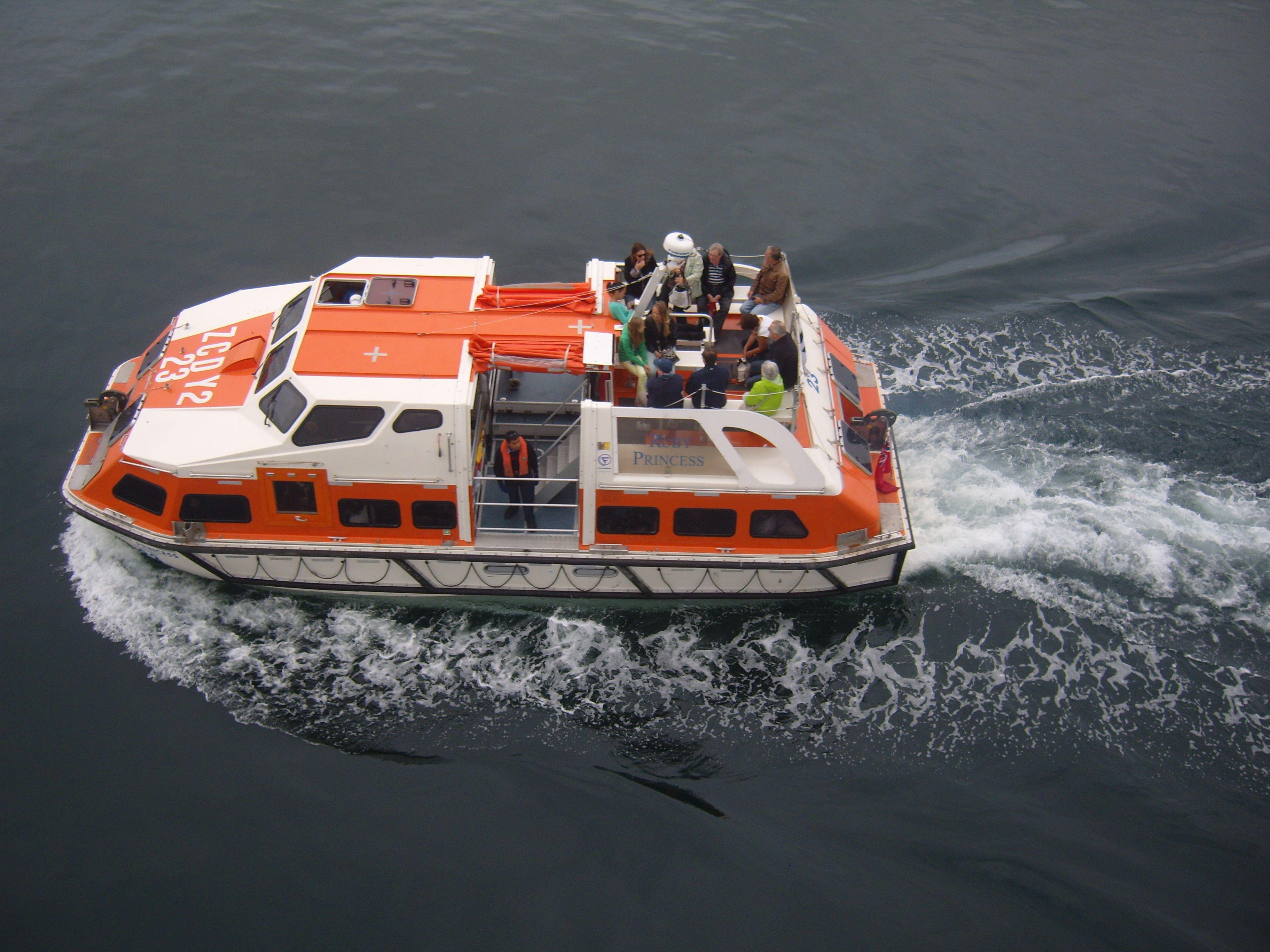 Ruby Princess Tender Taking People Ashore Cruise Boat Yacht