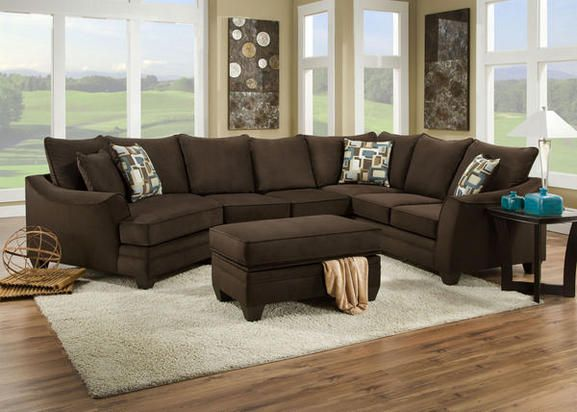 Casa Espresso 3 Pc Sectional Reverse Grey Sectional Sofa Chelsea Home Furniture Sectional Sofa