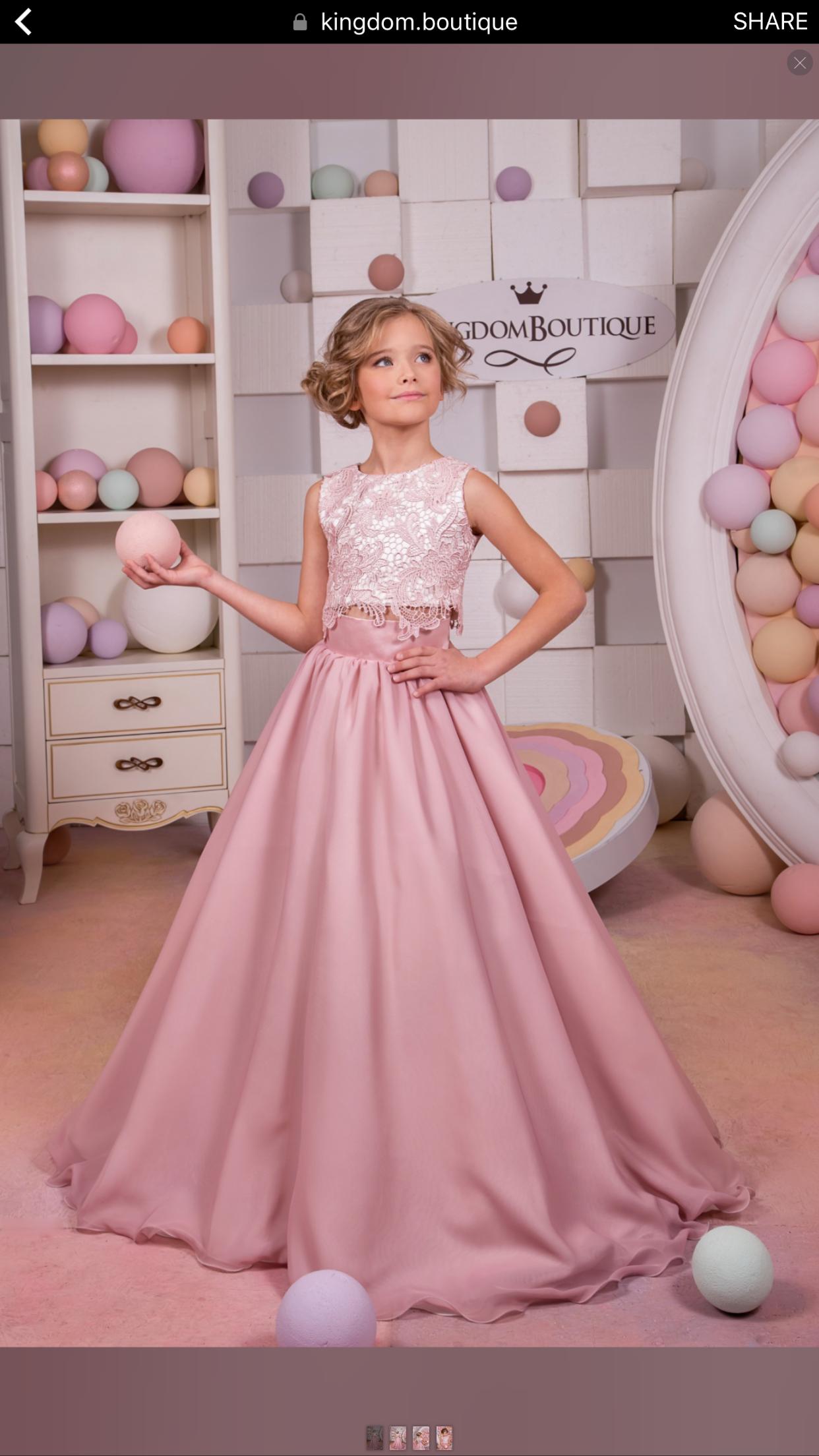 Blush pink girl dress  Pin by Tammy Sauer on Tatum  Pinterest