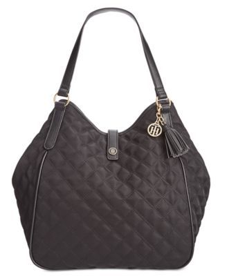 TOMMY HILFIGER Tommy Hilfiger Quilted Hazel Tote . #tommyhilfiger #bags #leather #hand bags #nylon #tote #