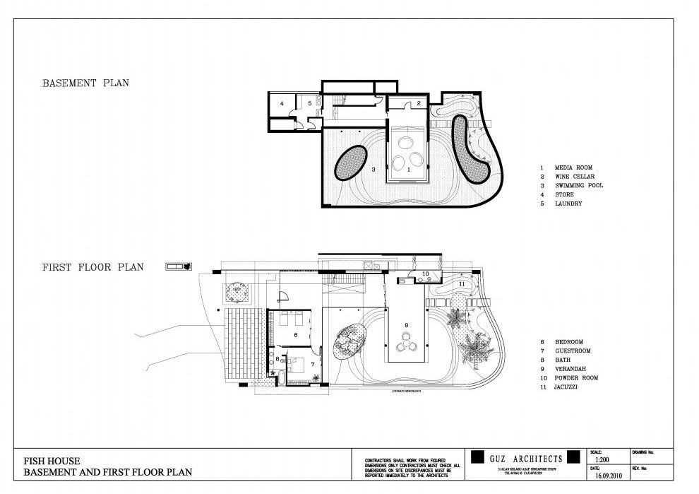 amazing fish house plans #3: Fish house guz architects floor plan