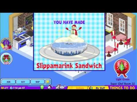 Some cool Winter recipes on Webkinz