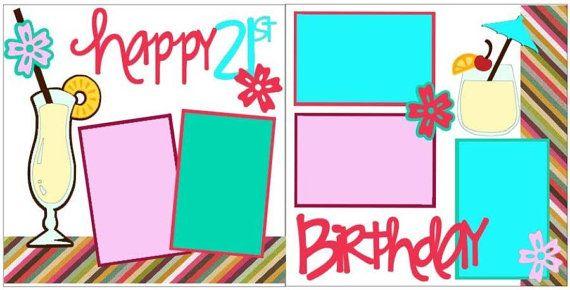 Happy 21st birthday 2 page 12x12 do it yourself scrapbook kit happy 21st birthday 2 page 12x12 do it yourself scrapbook kit solutioingenieria Choice Image