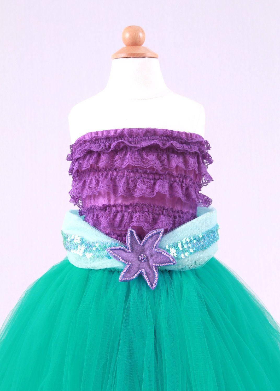 Tutu Skirt - Teal - Princess Ariel - Mermaid Costume - 12 Month to 2 ...