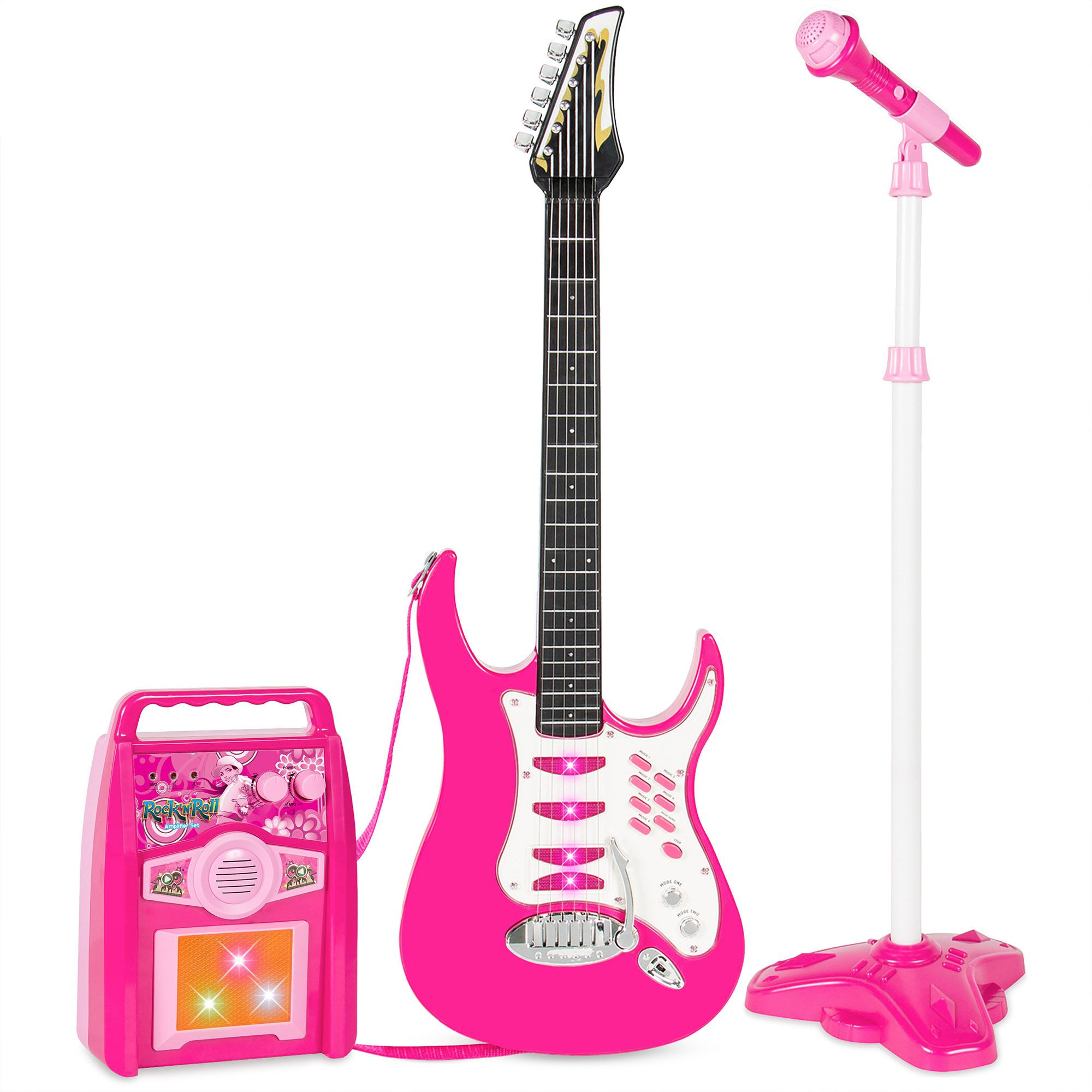 Best choice products kids electric musical guitar play set
