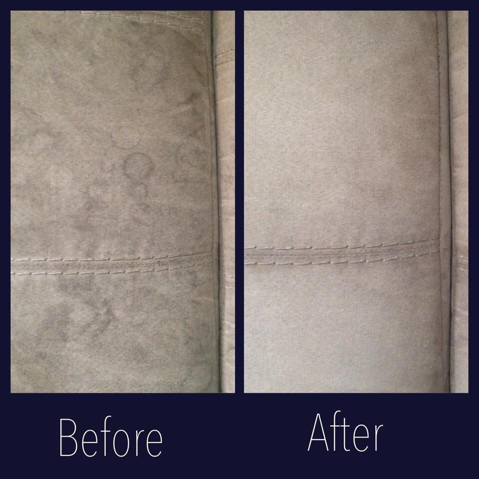 Cleaned Microfiber Couch With Windex And It Worked Amazing