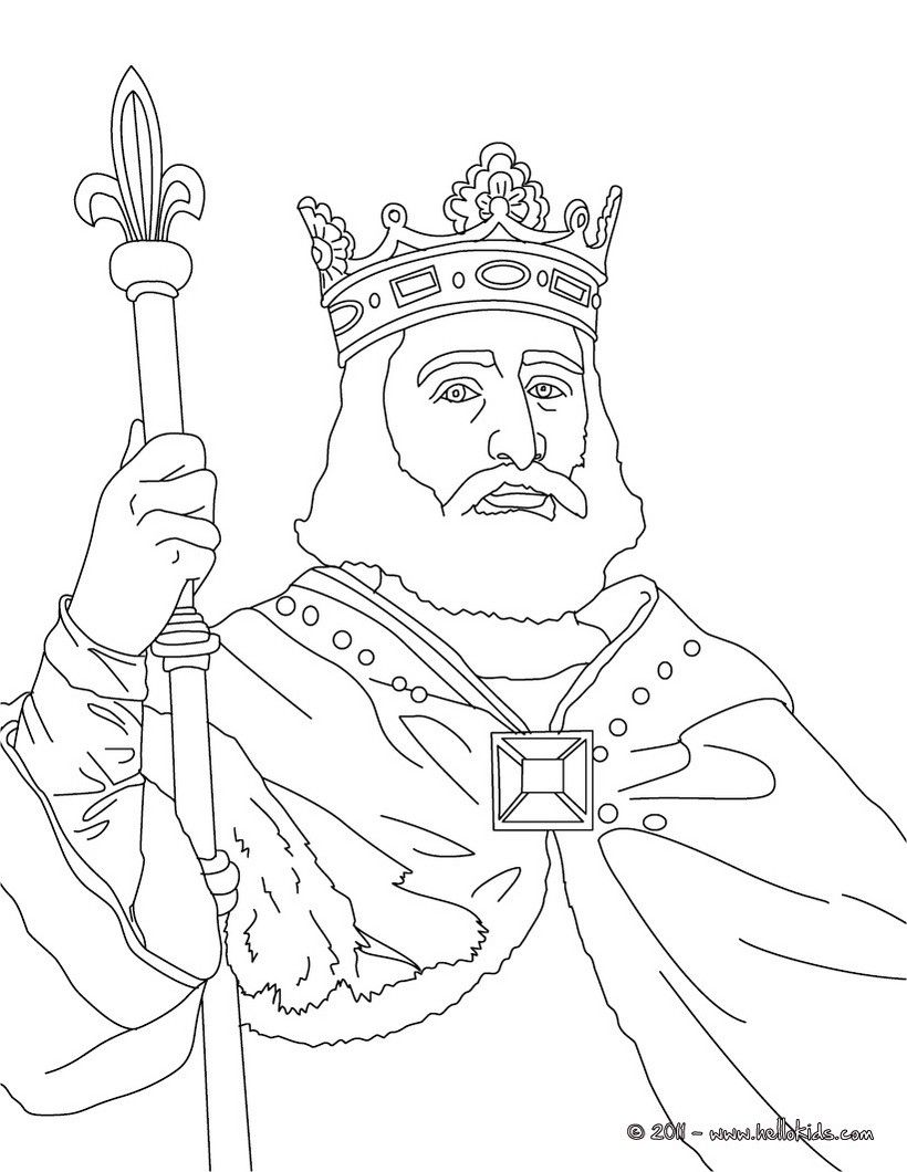 KING CHARLES MARTEL coloring page People coloring pages
