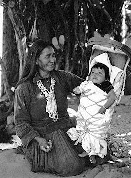 68f6646dda2 Navajo woman with papoose in cradleboard. Love the smile on her face ...