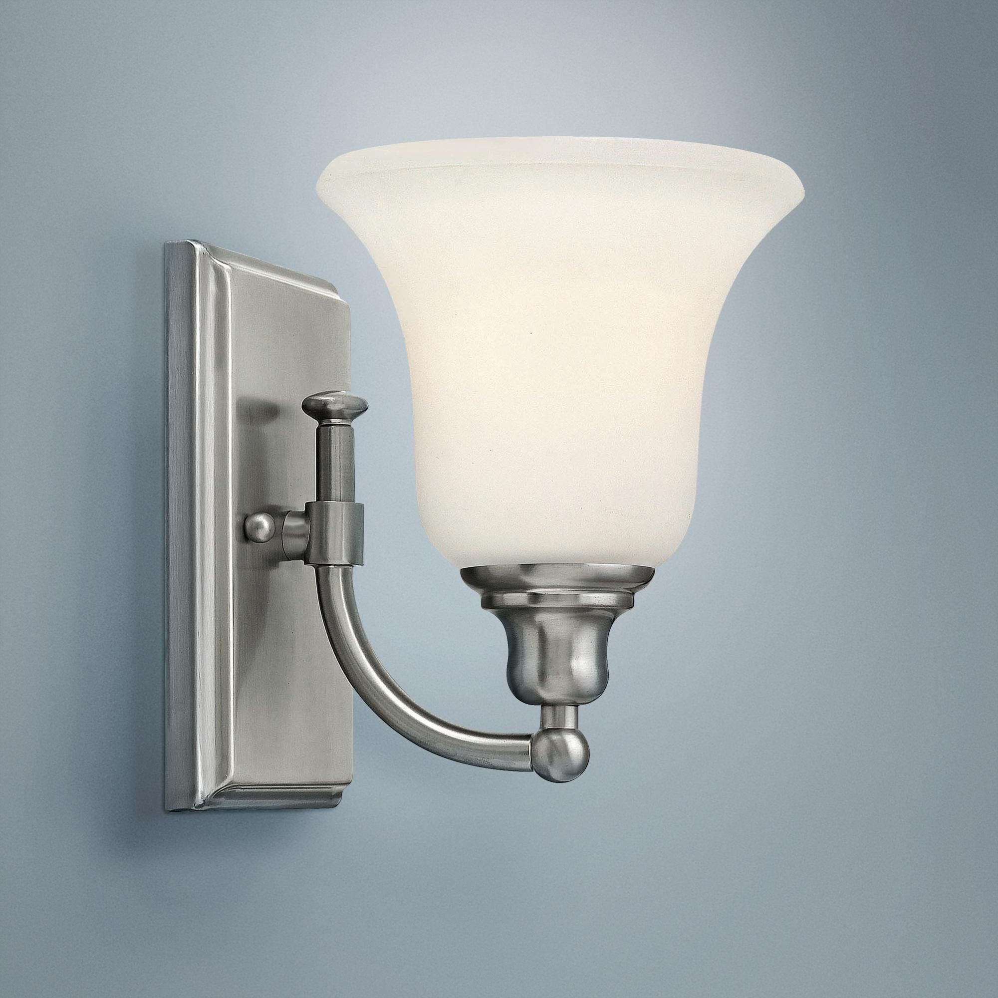 Photo of Hinkley Colette 8 and a quarter inch high brushed nickel wall light
