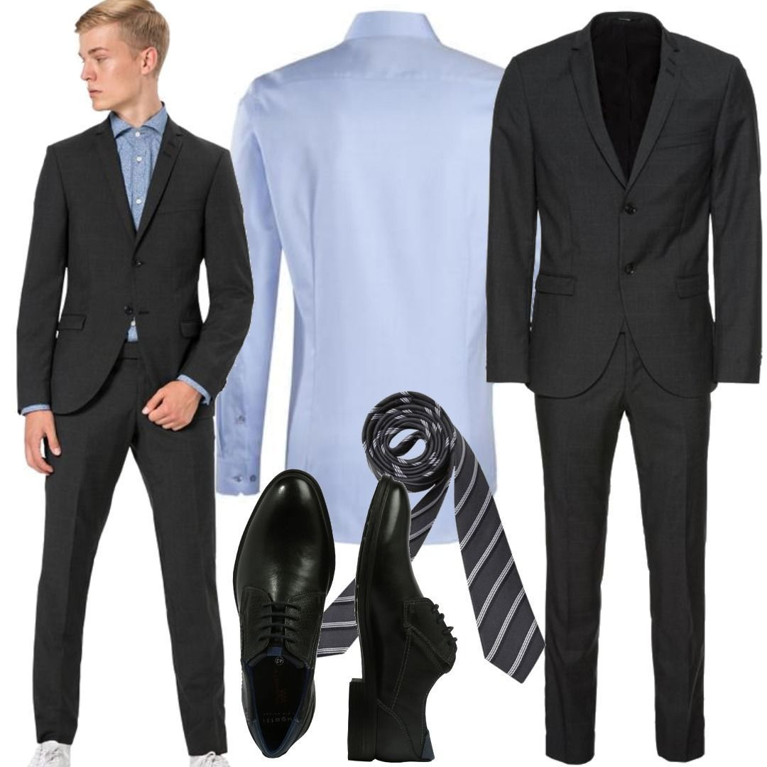 Tiger Of Sweden Nedvin Anzug Blues 400 Mens Outfits Mens Suits Menswear