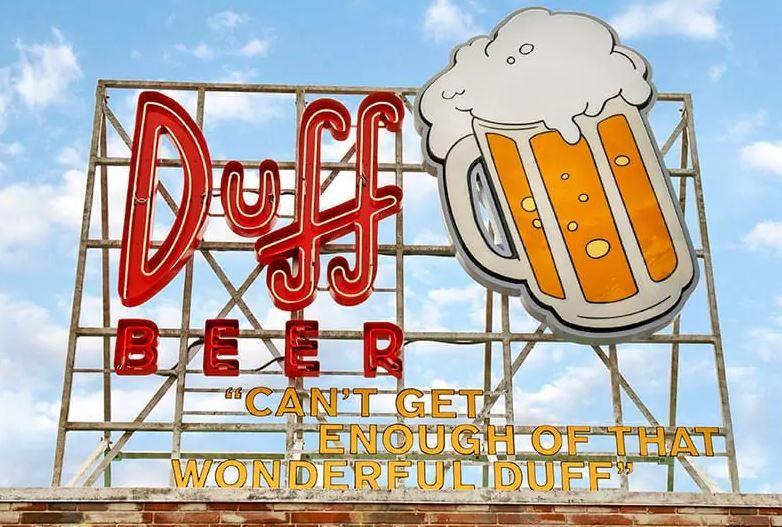 Duff Bear the Simpsons Springfield Universal Studios Florida